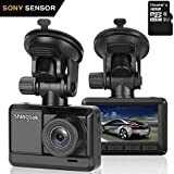 "Cheap Dash Cam Shingtak Full HD 1080P Car Dashboard Camera with Sony Sensor 170° Wide Angle, 6G Lens, 2.45"" IPS Screen, WDR, Loop Recording, Motion Detection and G-Sensor (Kingston 16GB Micro SD Included)"