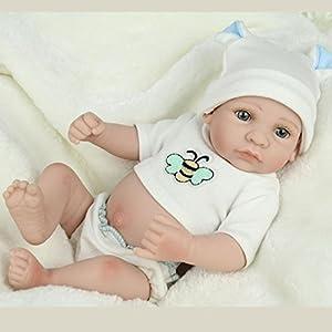YIHANGG-Muecas-Reborn-Baby-Hecho-A-Mano-Realista-De-Silicona-De-Vinilo-Realista-Mueca-Beb-Simulacin-Suave-Boca-Magntica-11-Pulgadas-28-Cm-Ojos-Chica-Abierta-Regalo-Favorito-Puede-Tomar-Un-Bao