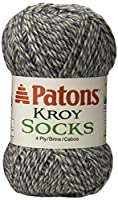 Spinrite Kroy Socks Yarn, Grey Marl
