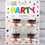 """CLUB GREEN """"Graduation"""" Candle, White, 4 candles"""