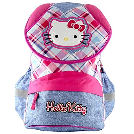 Target Hello Kitty Jeans Backpack Mochila Escolar, 42 cm, Rosa (Pink/Blue
