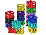 Storex Micro Crate, 6.75 x 5.8 x 4.8, Assorted Colors, Case of 18 (63199U18C)