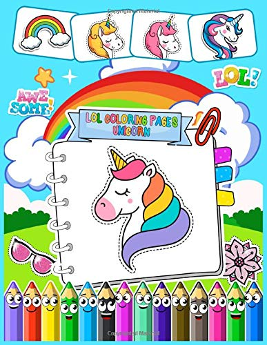 Lol Coloring Pages Unicorn Cute Unicorn Coloring Pages With Beautiful Flying Unicorn Coloring Pages For Kids And All Ages Includes 100 Little Coloring Book Realistic Unicorns Coloring Amazon De Books Coloring Pages