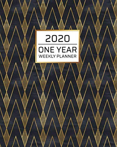 2020 One Year Weekly Planner: Art Deco Gold Black MCM | One Year | Schedule at a Glance | Inspirational quotes Focus Goals | 1 Yr Weekly Monthly ... your busy life! (8x10 Weekly Planner)