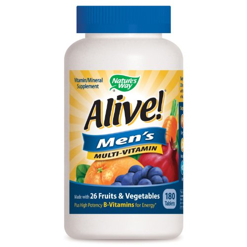 Nature's Way Alive! Men's Multivitamin with 26 Fruits & Vegetables 180 tabs