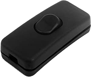 X-Dr AC 250V Black Plastic Housing Indoor On/Off Button Inline Cord Switch (4ca19280-a222-11e9-8d7c-4cedfbbbda4e)