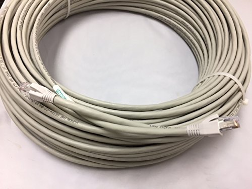 CERTICABLE 100' CAT7 CAT-7 SHIELDED COPPER CABLE 10GB 10 GIGABIT NETWORK ETHERNET ALSO FOR VIDEO WITH RJ45 CONNECTORS