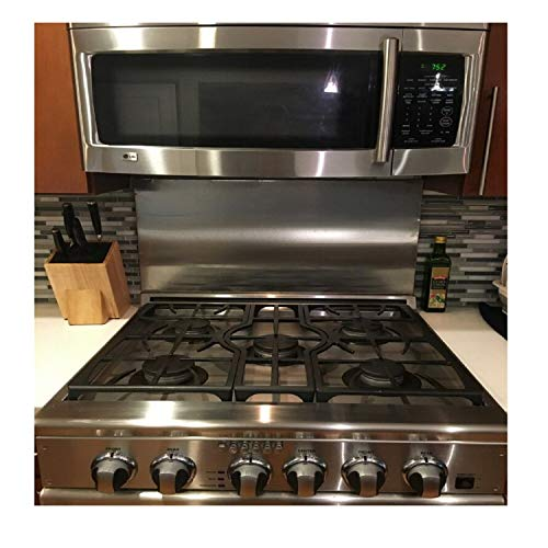 Alloy 304 Stainless Steel Backsplash 304 #4 Hemmed Edge 30quot x 30quot