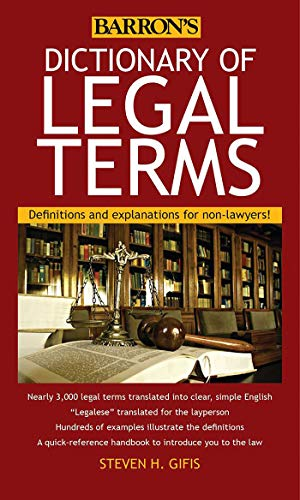 Pdf Law Dictionary of Legal Terms: Definitions and Explanations for Non-Lawyers