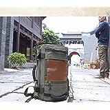 Canvas Messenger Bag Shoulder Bag Bookbag School/Working/Hiking/Camping And Travel Bag for Men -Green