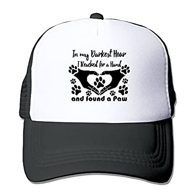 Animal Rescue Adopt Foster Save Dogs Cats Unisex Adjustable Mesh Snapback Cap Hat