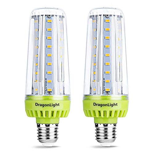 20W Super Bright Corn LED Light Bulbs(200 Watt Equivalent) - 6000K Daylight 2000Lumen - E26 Medium Screw Base for Large Area Lighting - Garage Warehouse Workshop Office Porch Yard(2 Packs)