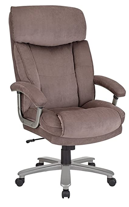 Merveilleux Realspace(R) BTEC 820 Big Tall Executive Fabric High Back Chair, Brown