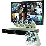 REVO America RG161D4CB4CM22-2T Genesis HD 16 Ch. 2TB NVR Surveillance System with 8 1080p 2MP Cameras (White)