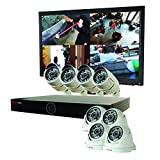 Cheap REVO America RG161D4CB4CM22-2T Genesis HD 16 Ch. 2TB NVR Surveillance System with 8 1080p 2MP Cameras (White)