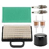 Mckin MIU11286 GY21056 Air Filter + AM125424 Oil Filter + AM116304 Fuel Filter fits John Deere LA120 LA130 LA140 LA150 L120 LA135 LA145 D130 D140 Lawn Mower Maintenance Kit Parts