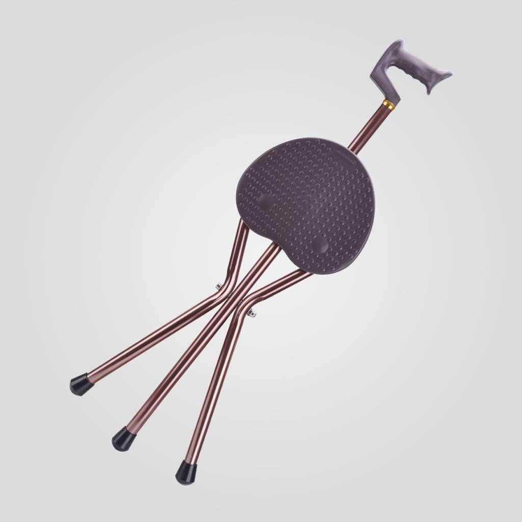 Adjustable aluminum alloy crutch stool folding hand stick stool