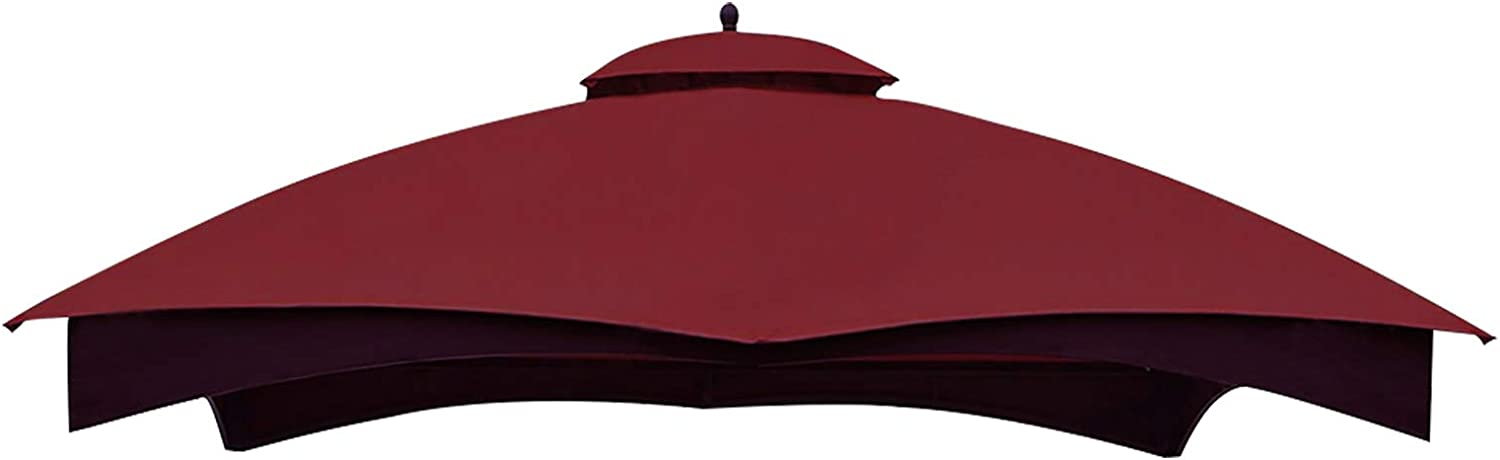 Eurmax Replacement Canopy Top for Lowe's Allen Roth 10X12 Gazebo #GF-12S004B-1,Outdoor Gazebo Roof, Canopy Top Cover Only (Burgundy)
