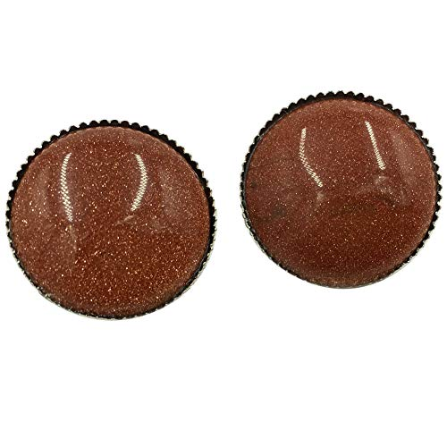 Clip Goldstone - Jewelry58718 Fashion New Zealand Abalone Shell Round Clip Earrings (Goldstone C6920)