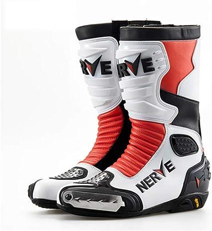 Cuir Artificiel Protection R/ésistant /à Usure Couverture Bottes Moto Homyl Housse de Chaussure de Moto