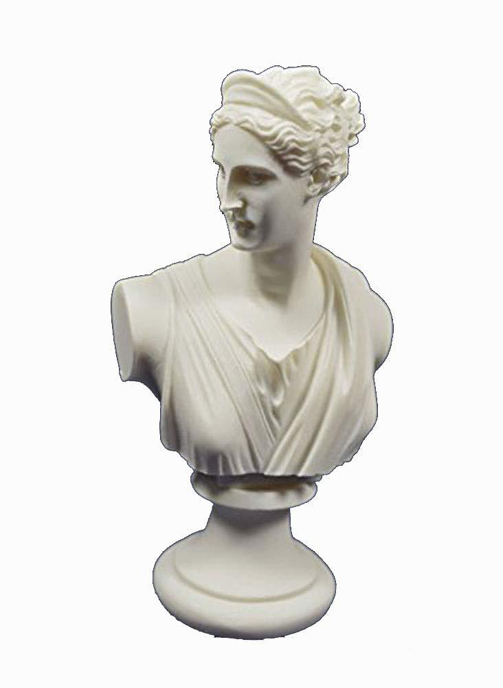 Artemis Sculpture Bust Diana Ancient Greek Goddess of Hunt Statue by Estia Creations