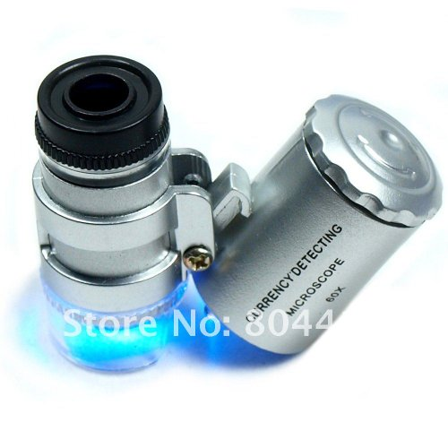 Mini 60X Jewelers Loupe / Magnifier With Led & Fluorescen...