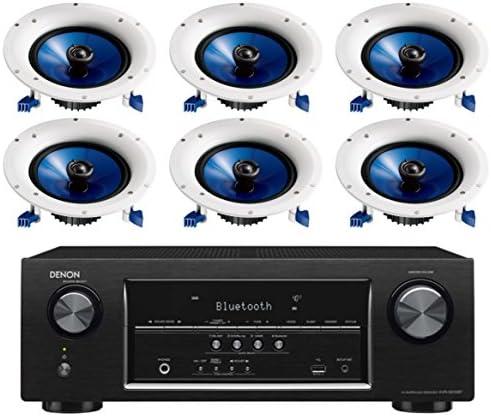 Denon 5.2 Channel 700-Watt Full 4K Extremely HD Bluetooth AV Residence Theater Receiver + Yamaha Excessive-Efficiency Moisture Resistant 2-Means 8″ 140 watt Encompass Sound in-Ceiling Speaker System (Set of 6)