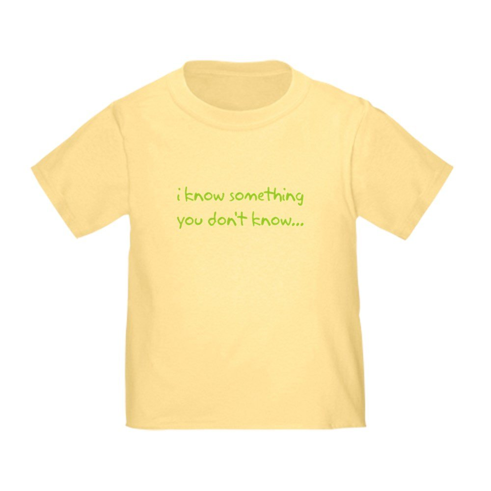 CafePress I Know Something Big Brother Toddler Tshirt