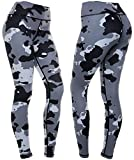 CompressionZ Women's Compression Pants (Camo - S) Best Full Leggings Tights for Running, Yoga, Gym