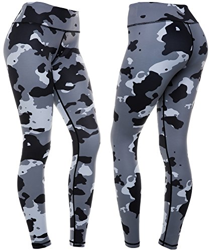 CompressionZ Women's Compression Pants (Camo - M) Best Full Leggings Tights for Running, Yoga, Gym