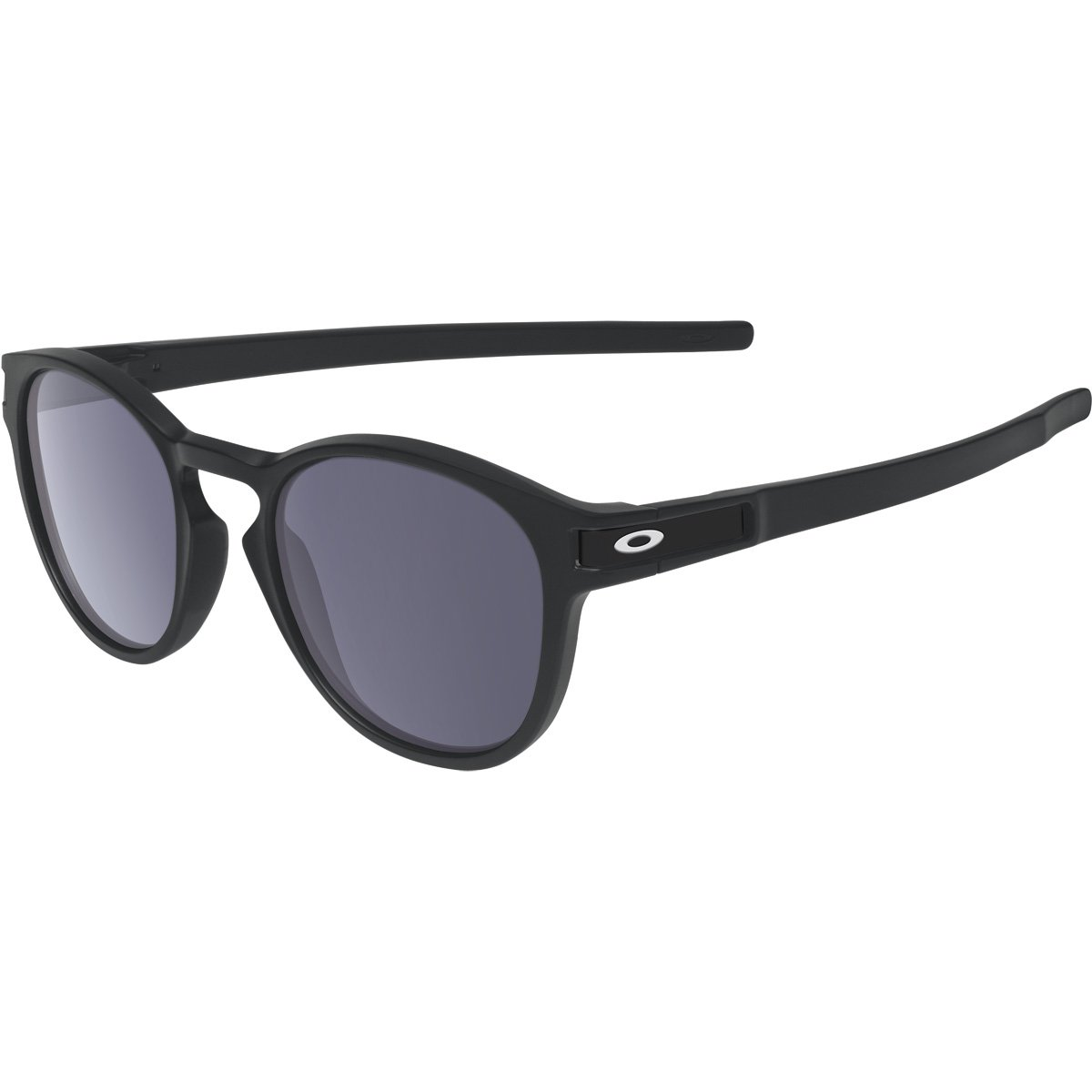 Oakley Men's Latch OO9265-01 Round Sunglasses, Matte Black, 52.6 mm