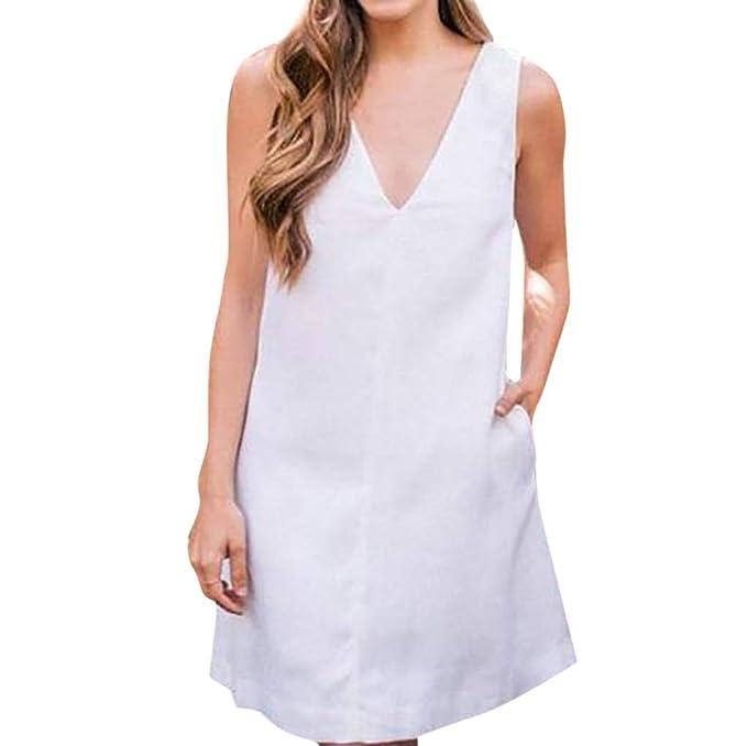 new styles c47b0 1b46c Siswong Vestito da Donna Elegante Corto Cerimonia Senza ...