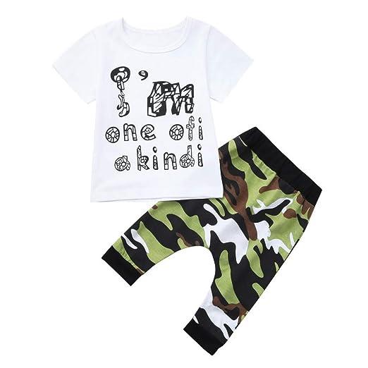 5d52505698 Amazon.com: Kids Outdoor Tops, Boys Summer 2 Piece Sets,Baby Little ...