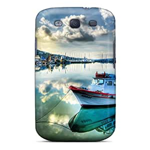 Galaxy S3 Case Cover Skin : Premium High Quality Boats On Marina Case
