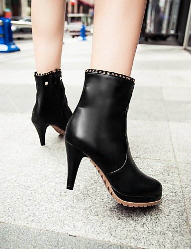 us10 Caqui La 5 Cono us9 5 Mujer Uk8 Tacón Zapatos A Xzz Black Semicuero Moda Cn43 Negro Vestido Cn41 Eu42 Eu40 De Botas Uk7 Black wq76Ix0