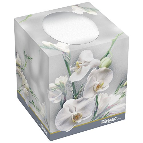 Kleenex Facial Tissue Cube (21269), Upright Face Tissue Box, 36 Boxes/Case, 95 Tissues/Box, 3,420 Tissues/Case]()