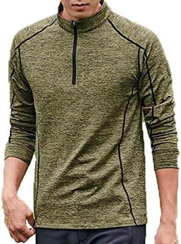 Tシャツ 速乾 アンダーウェア メンズ 長袖 吸水 ジッパー ストレッチ 無地 ランニング 登山 アウトドア 自転車