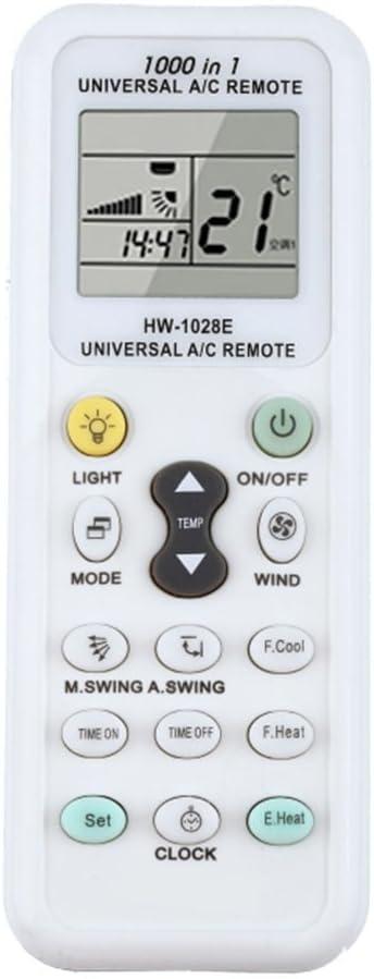 Mando a distancia universal para aire acondicionado, LCD, A/C, 1000 en 1, para MITSUBISHI TOSHIBA HITACHI FUJITSU DAEWOO, LG SHARP SAMSUNG ELECTROLUX SANYO AUX GREE HAIER HUAWEI aire acondicionado: Amazon.es: Hogar