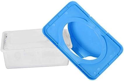 le bureau bleu la voiture Dragonaur Bo/îte de rangement en plastique pour lingettes humides avec couvercle /à boucle distributeur de lingettes pour la maison