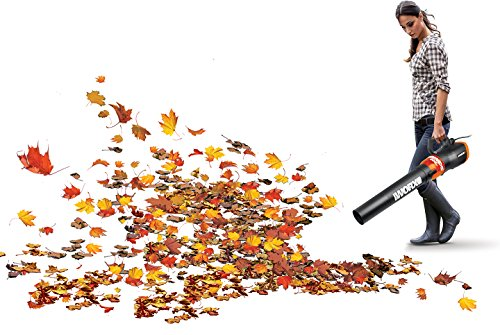 WORX TURBINE 12 Amp Corded Leaf Blower with 110 MPH and 600 CFM Output and Variable Speed Control - WG520