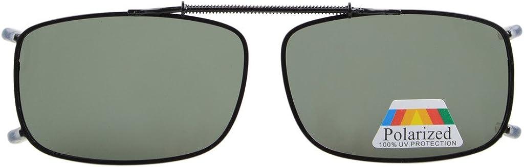Eyekepper Sur-lunettes de conduite de nuit a clipser Polarisees Monoverre large