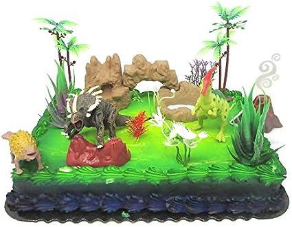 Groovy Amazon Com Prehistoric Roaming Dinosaurs 12 Piece Birthday Cake Personalised Birthday Cards Paralily Jamesorg