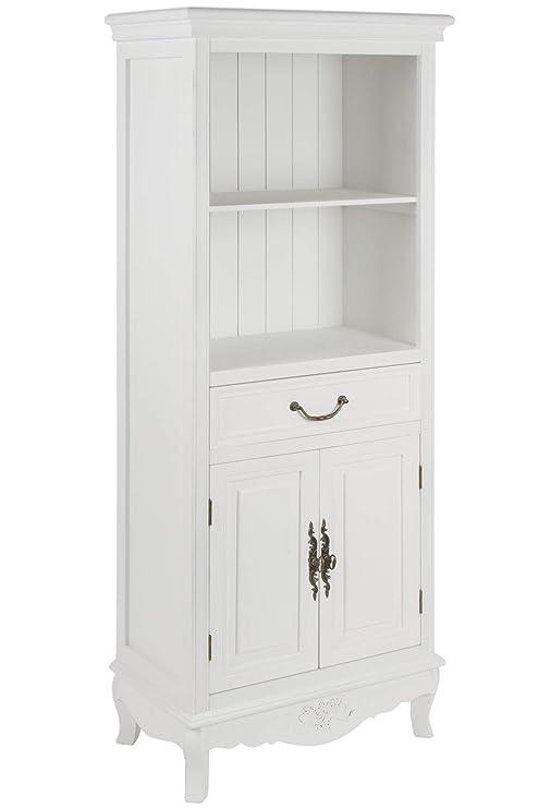 elbmöbel Küchenregal in weiß aus Holz mit Türen im Landhaus-Design