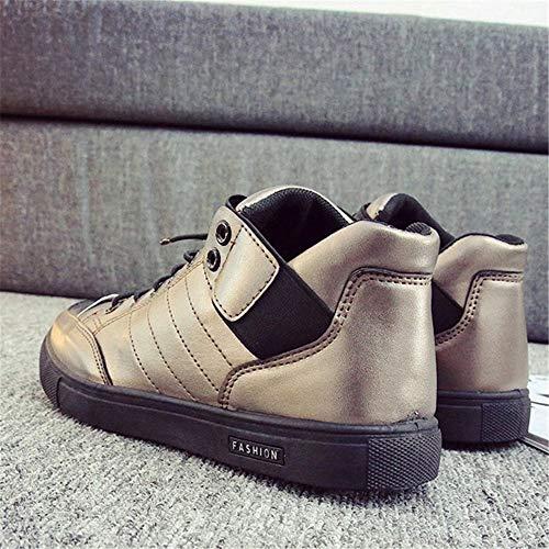 Seasons Wwjdxz Zapatillas Unisex Tela De Four Metálico Casual Puede Hombre Calzado Tabla Gun Usar Color Zapatos Cuero qqrwvf