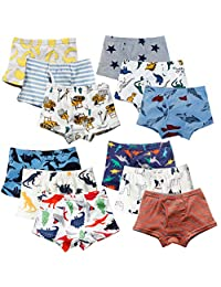 XNN Soft Cotton Baby Toddler Underwear Little Boys' Assorted Boxer Briefs(Pack of 12)