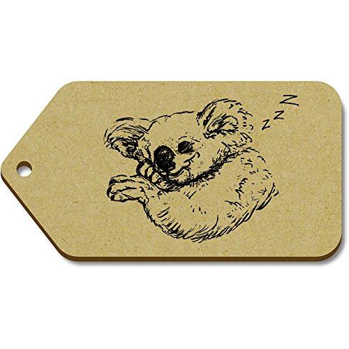 Azeeda equipaje tg00050210 Durmiendo' Regalo 'koala Grande X 10 51mm 99mm Etiquetas xB8Srx