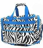 Zebra Duffel Bag Blue Trim 19″, Bags Central