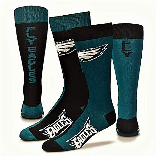 (For Bare Feet Philadelphia Eagles Big Top Mismatch Men's Crew Socks (Large (10-13)))