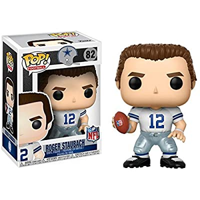 Funko POP NFL: Roger Staubach (Cowboys Home) Collectible Figure: Funko Pop! Sports:: Toys & Games