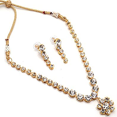 d10965e17 Buy Jewar Mandi Fashion ad Pearl ad Kundan Jadau Solitaire Nagmala Vintage  Ethnic Real Necklaces Online at Low Prices in India | Amazon Jewellery  Store ...